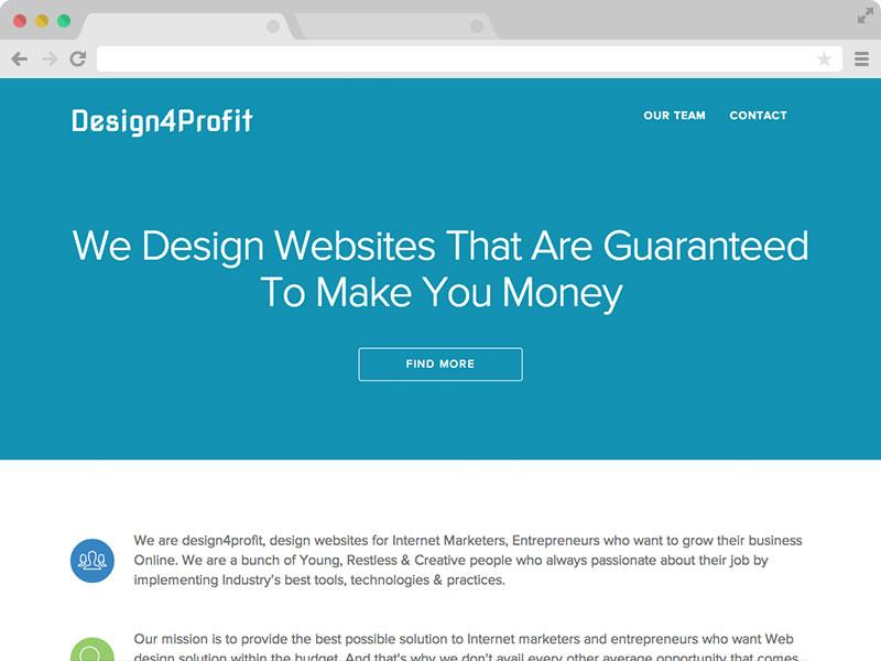 Design4Profit - An Elegant Responsive Business Template