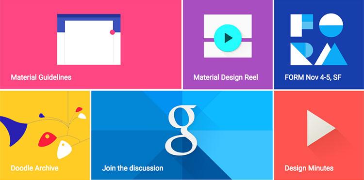 Top web Design Trends in 2015 Material Design