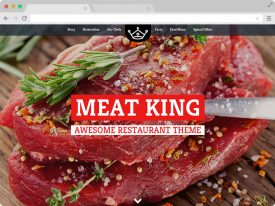 Responsive Restaurant Website Design Template