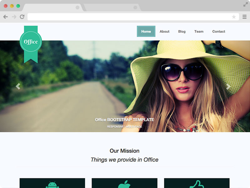 Office - HTML Template for small Business