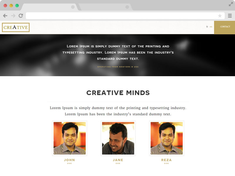Multilingual Creative Agency Template with Bootstrap & HTML5