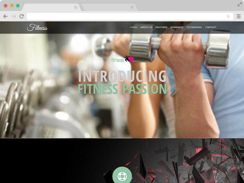 Fitness Gym Website Responsive Template Free