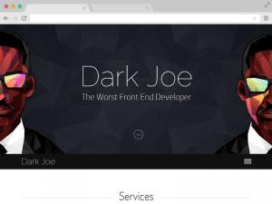 Dark Joe responsive one page personal website template