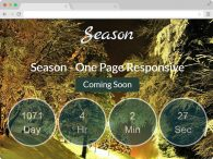 Season Responsive Coming Soon Bootstrap Template