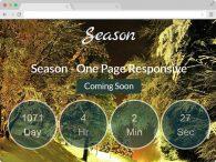 Season Responsive Coming Soon Bootstrap Template