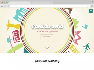 Travellers - A Free Bootstrap One Page Agency Website Template