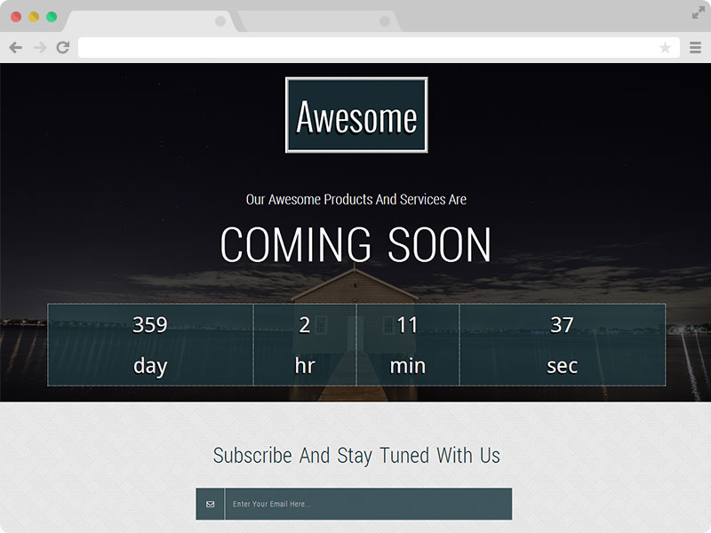 Awesome Free Responsive Coming Soon Template