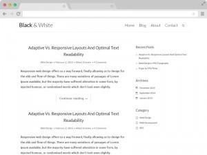 Black N White - A clean responsive blog template