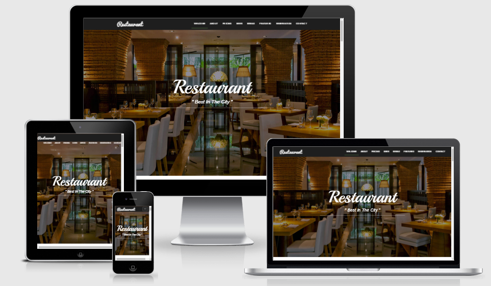 Bootstrap Food Restaurant Website Template Free Download in 2017