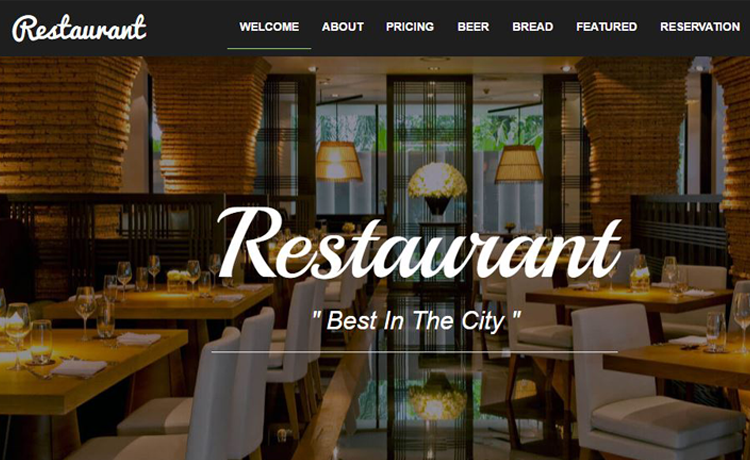 Restaurant - Bootstrap Food Restaurant Website Template Free Download in  2017