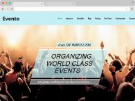 responsive one page event template
