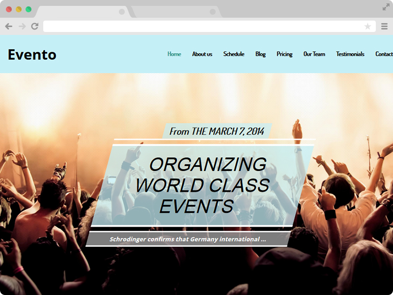 Evento responsive one page event template with bootstrap responsive one page event template pronofoot35fo Image collections