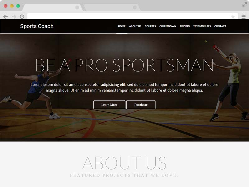 free coaching website html5 template download