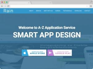 Free Responsive HTML5 App Landing Page Template Rain