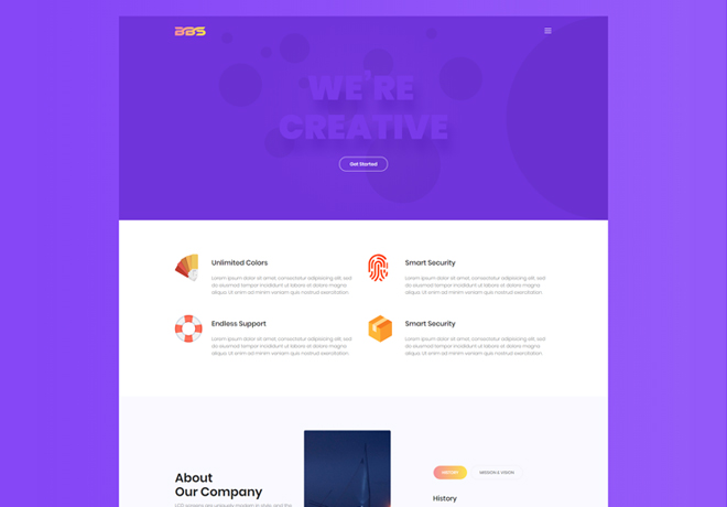 100 Best Responsive Free One Page Bootstrap Template with