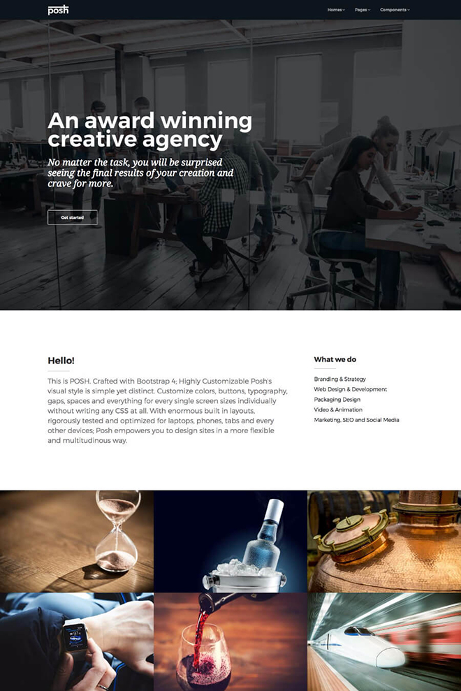 agency HTML 5 Bootstrap 4 template