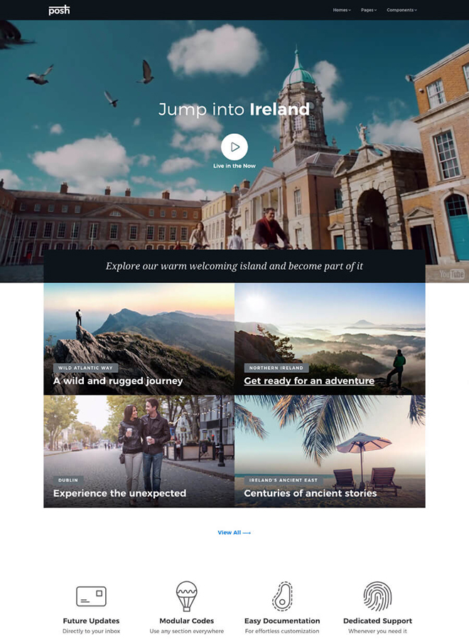 Travel agency HTML 5 Bootstrap 4 template