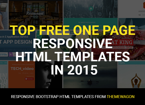 100 Free Best One Page Responsive HTML5 Templates