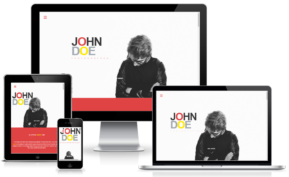 free personal portfolio website template responsive layout
