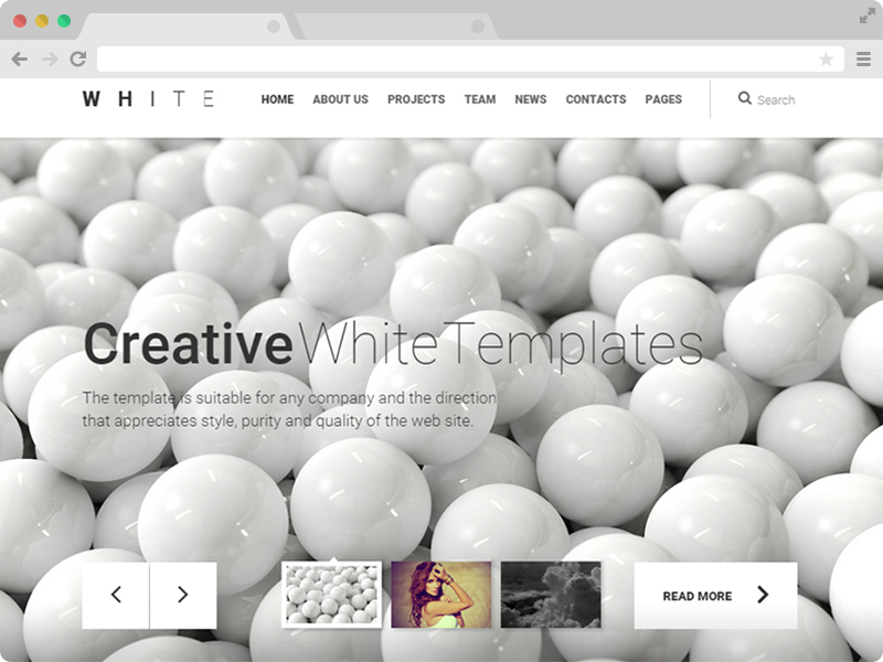 Free Creative Multipurpose HTML5 Template White Pro