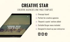 one page agency bootstrap template