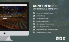 Responsive Event Planning Bootstrap HTML5 Template Conference