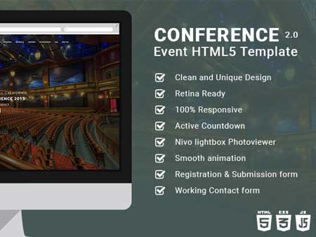 Free Responsive Event Planning HTML5 Template