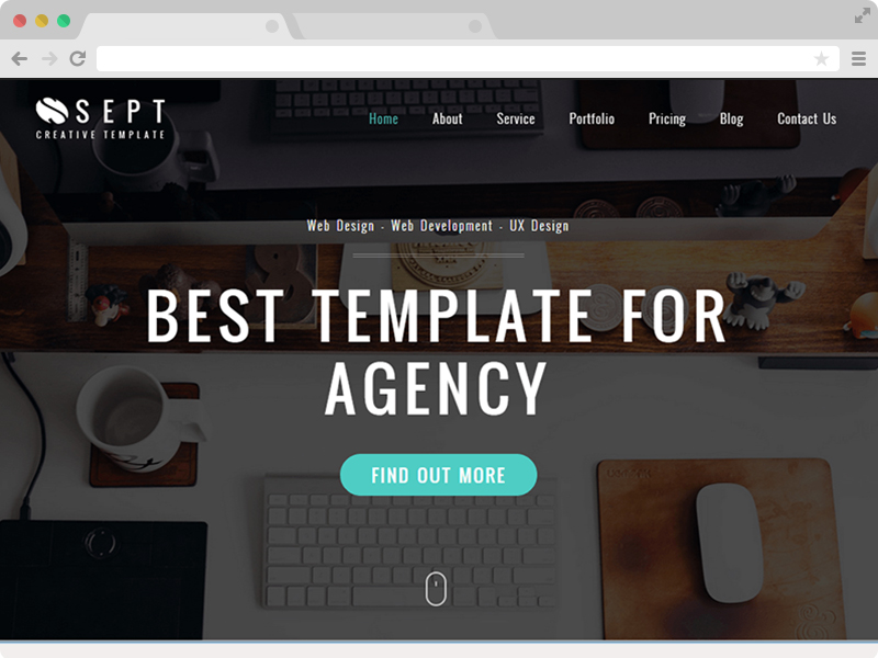 Sept - Free Responsive Corporate Agency HTML5 Template