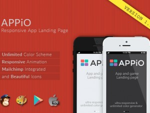 Appio responsive HTML5 app landing page template