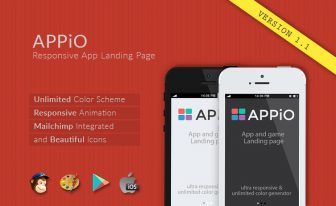 Appio responsive HTML5 app landing page template