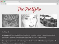 One Page Portfolio Bootstrap Responsive Template