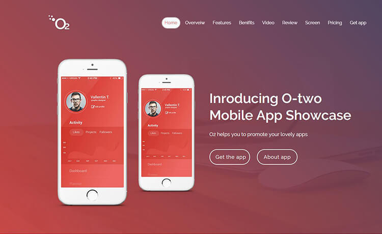 o2 Pro - Premium Responsive App Landing HTML5 Template