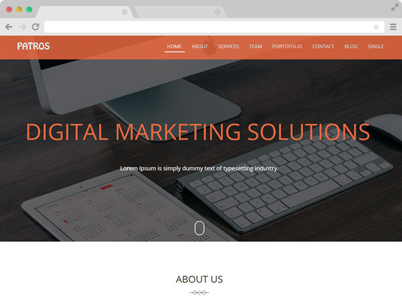 one page business HTML5 template