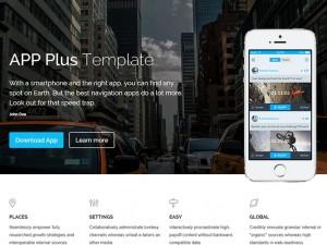 Free App Game Landing HTML5 Template