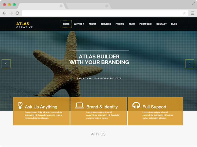 Atlas parallax html5 business free responsive bootstrap for What is a responsive template