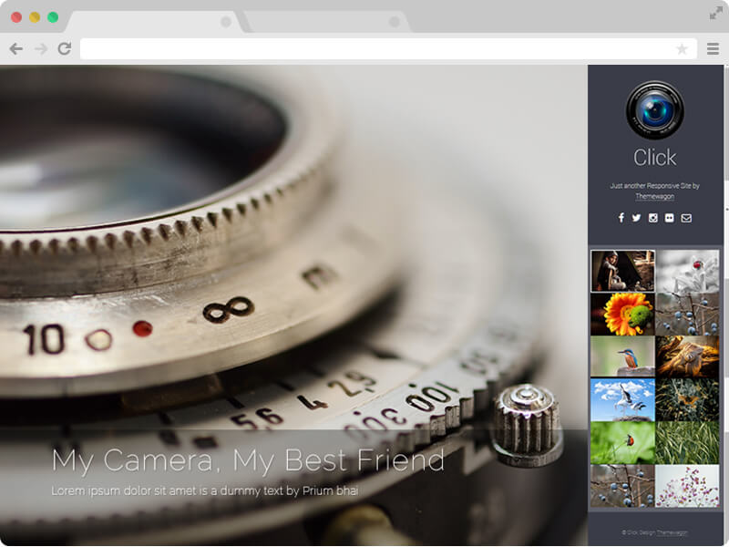 Click free responsive html5 photography template free responsive html5 photography template maxwellsz