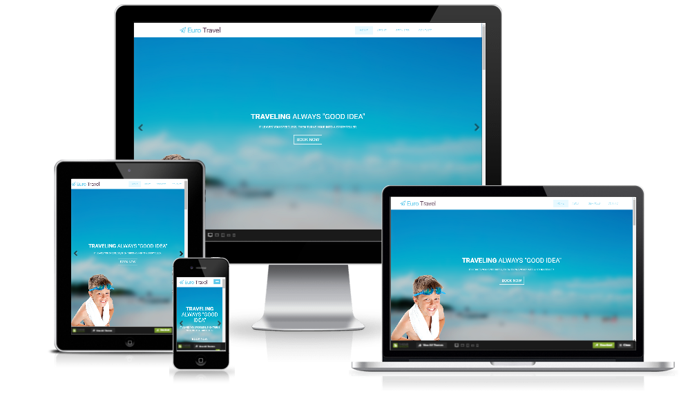 responsive travel website templates free download