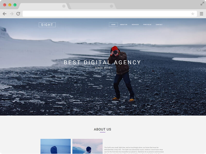 free responsive html5 agency website template empowered by bootstrap