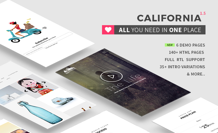 California Bootstrap Template