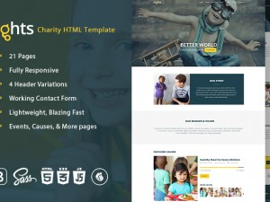 Non-profit Charity Multipage Bootstrap HTML5 Template