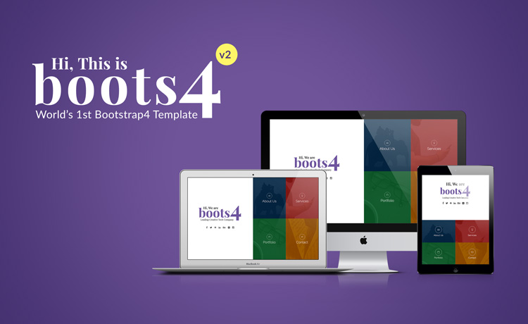 best Bootstrap4 HTML5 template