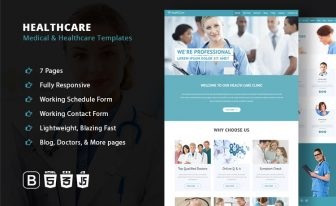 healthcare medical hospital responsive templates