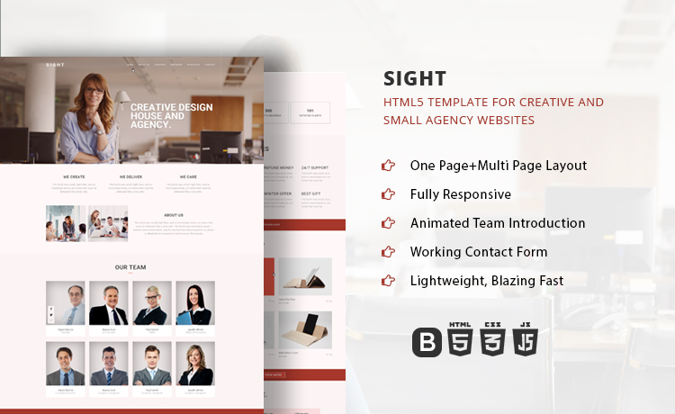 Onepage Multipage Multipurpose Creative Agency Bootstrap Template