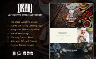 Multipurpose Responsive Restaurant HTML5 Template