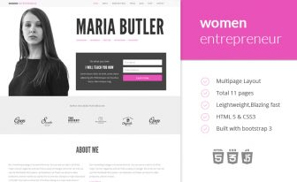 women entrepreneur ecommerce blog template