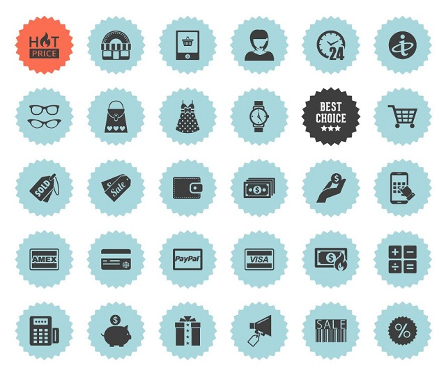 36 Free round eCommerce icons on behance