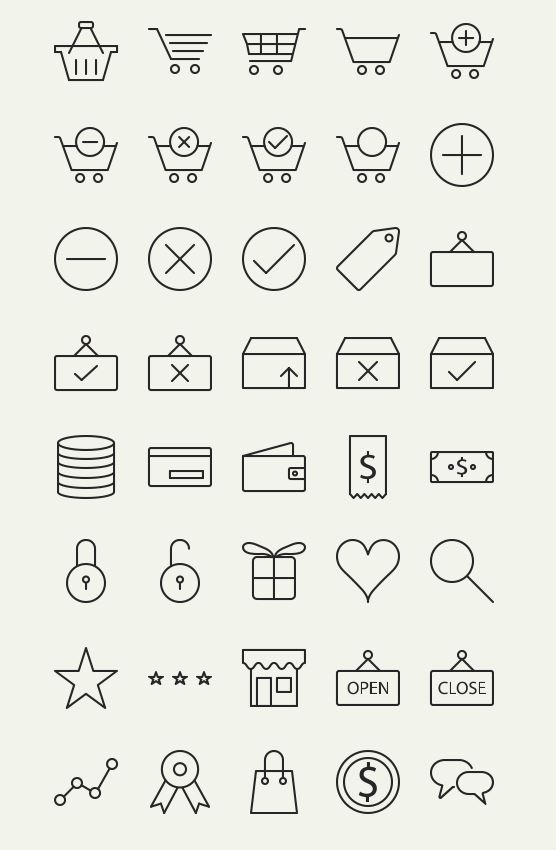 Awesome Free Outline eCommerce icons