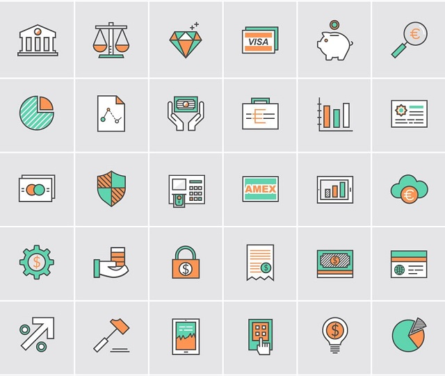 Bank and Money icons free download