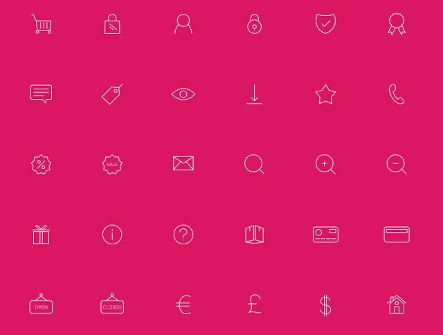 eCommerce Line icons Free Download
