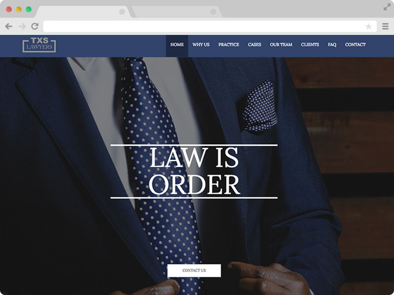 Free Lawyer Attorney Law Firm Website Template Texas Lawyer - Free web site template